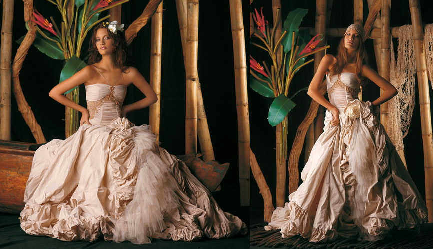 Exotic Wedding Dresses Collection Made in Italy Marina Mansanta